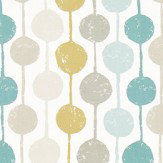 Scion Taimi Seaglass, Chalk and Honey Fabric - Product code: 120366