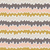 Scion Hetsa Parchment, Blush and Toffee Fabric - Product code: 120369