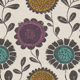 Scion Anneke Damson, Azure and Stone Fabric - Product code: 120372