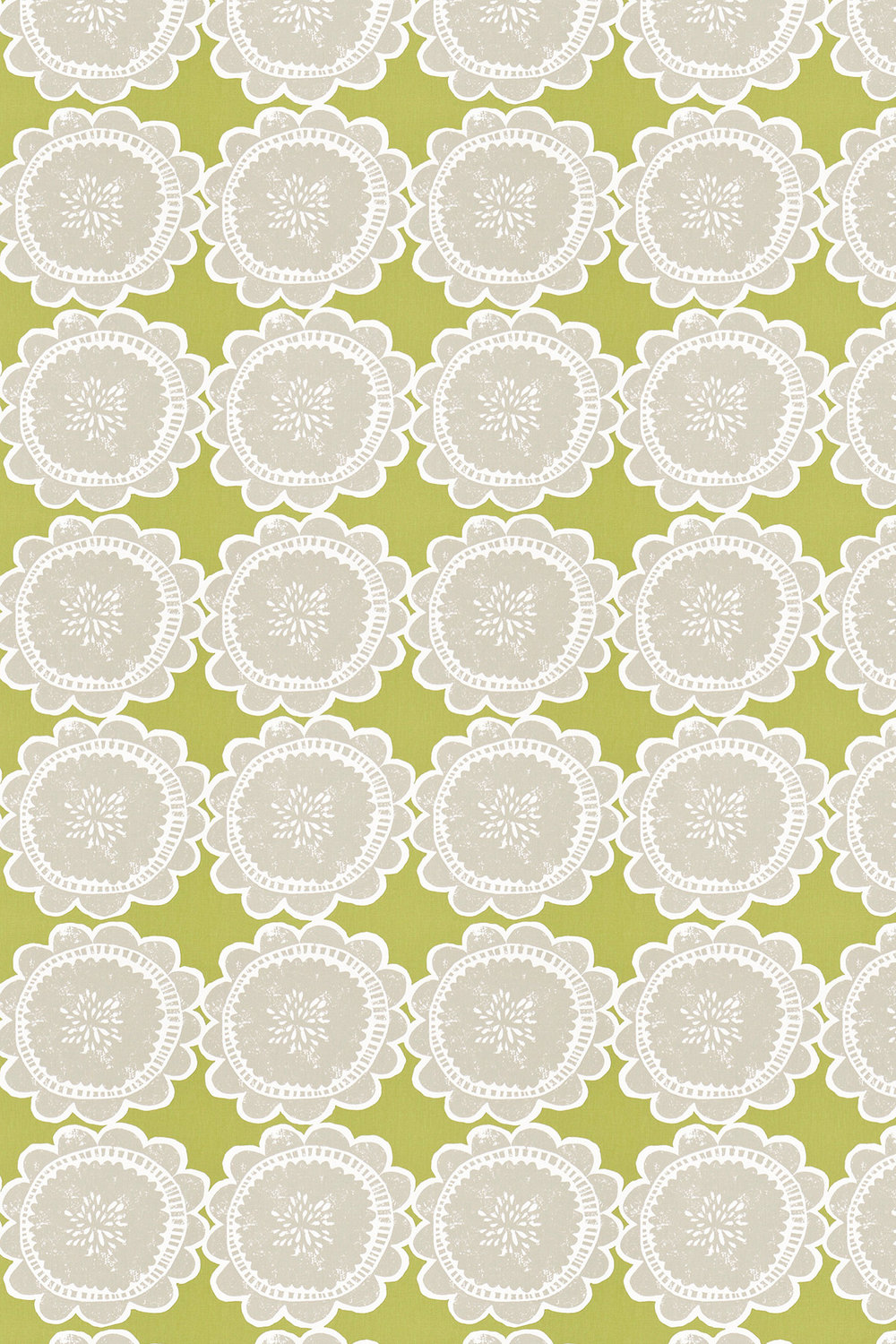 Lotta Fabric - Apple and Slate - by Scion