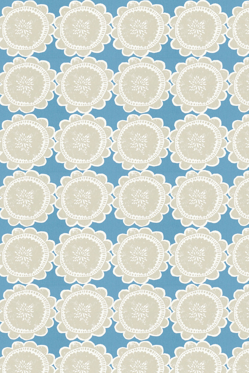 Lotta Fabric - Cobalt and Putty - by Scion
