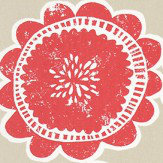Scion Lotta Poppy and Biscuit Fabric - Product code: 120378