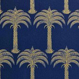 Barneby Gates Marrakech Palm Midnight Blue Wallpaper