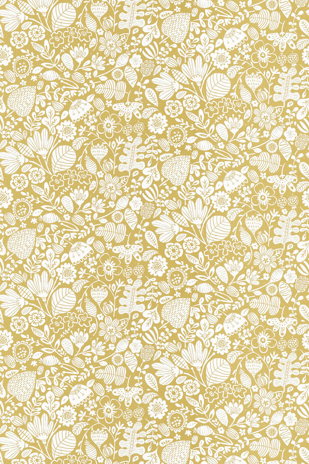 Ester Fabric - Honey and Chalk - by Scion