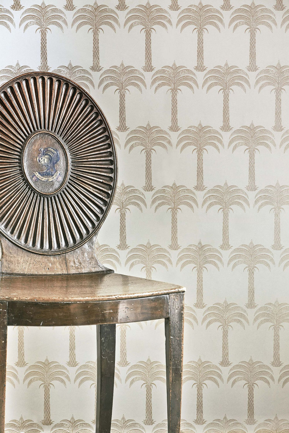 Marrakech Palm Wallpaper - Soft Gold - by Barneby Gates