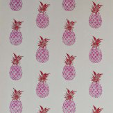 Barneby Gates Pineapple Red / Pink Wallpaper