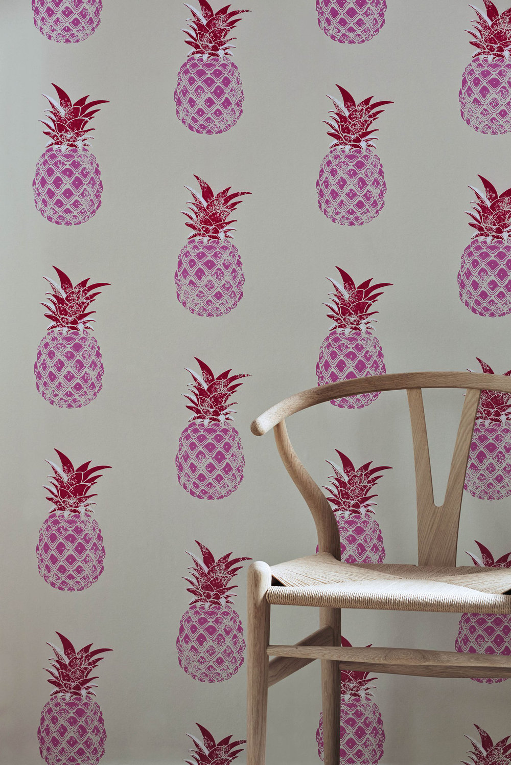 Barneby Gates Pineapple Red / Pink Wallpaper extra image