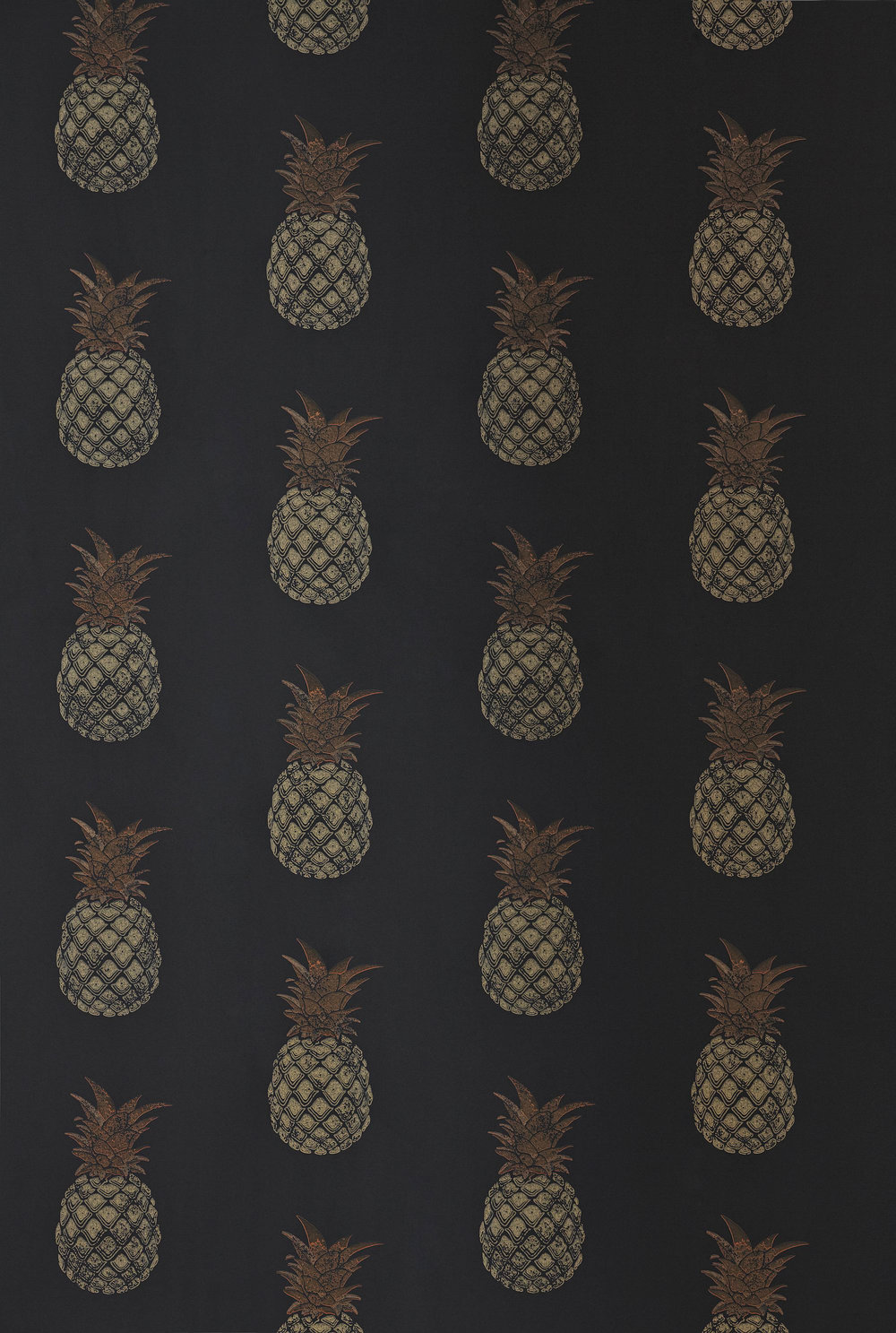 Pineapple By Barneby Gates Charcoal Wallpaper Direct