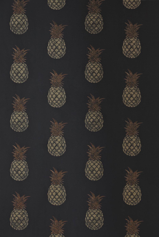 Barneby Gates Pineapple Charcoal Wallpaper - Product code: BG1200202