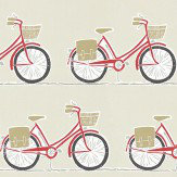 Scion Cykel  Poppy, Charcoal and Biscuit Fabric