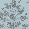 Albany Bird Tree Blue / Silver Wallpaper