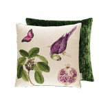 Sanderson Capuchins Parrot Cushion Boysenberry - Product code: 254804
