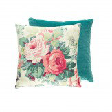 Sanderson Chelsea Cushion Coral & Emerald - Product code: 254791