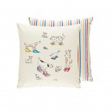 Sanderson Dogs in Clogs Cushion Rainbow Brights