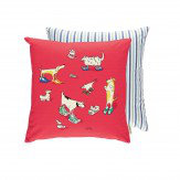 Sanderson Dogs in Clogs Cushion Red - Product code: 254811