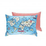 Sanderson Treasure Map Cushion Sea Blue - Product code: 254808