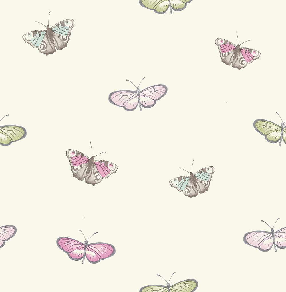 iliv Butterfly Vintage Pastel Wallpaper - Product code: ILWF/BUTTEPAS