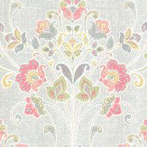 Albany Delhi Floral Grey Wallpaper