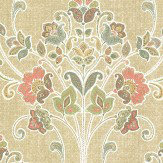 Albany Delhi Floral Golden Beige Wallpaper