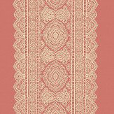 Albany Sari Stripe Coral Wallpaper