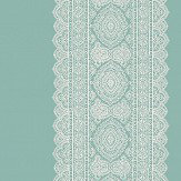 Albany Sari Stripe Aqua Wallpaper