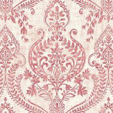 Albany Assam Damask Red Wallpaper