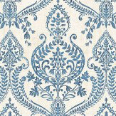 Albany Assam Damask Navy Wallpaper