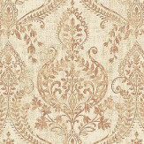 Albany Assam Damask Golden Beige Wallpaper