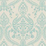 Albany Assam Damask Teal Wallpaper