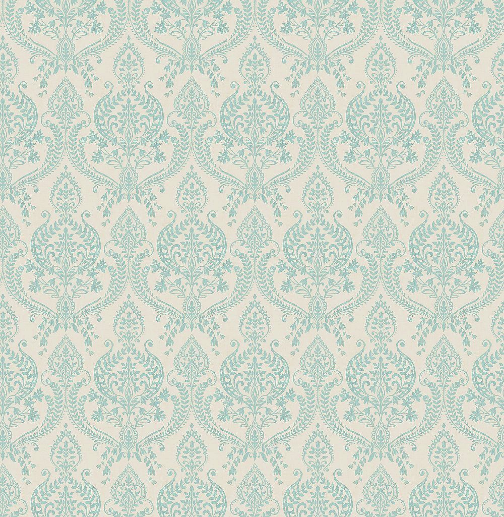 Albany Assam Damask Teal Wallpaper main image