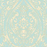 Albany Jodhpur Damask Aqua Wallpaper