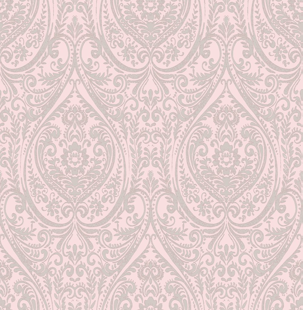 Albany Jodhpur Damask Pale Pink Wallpaper Main Image
