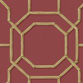 Albany Summer Trellis Crimson Wallpaper