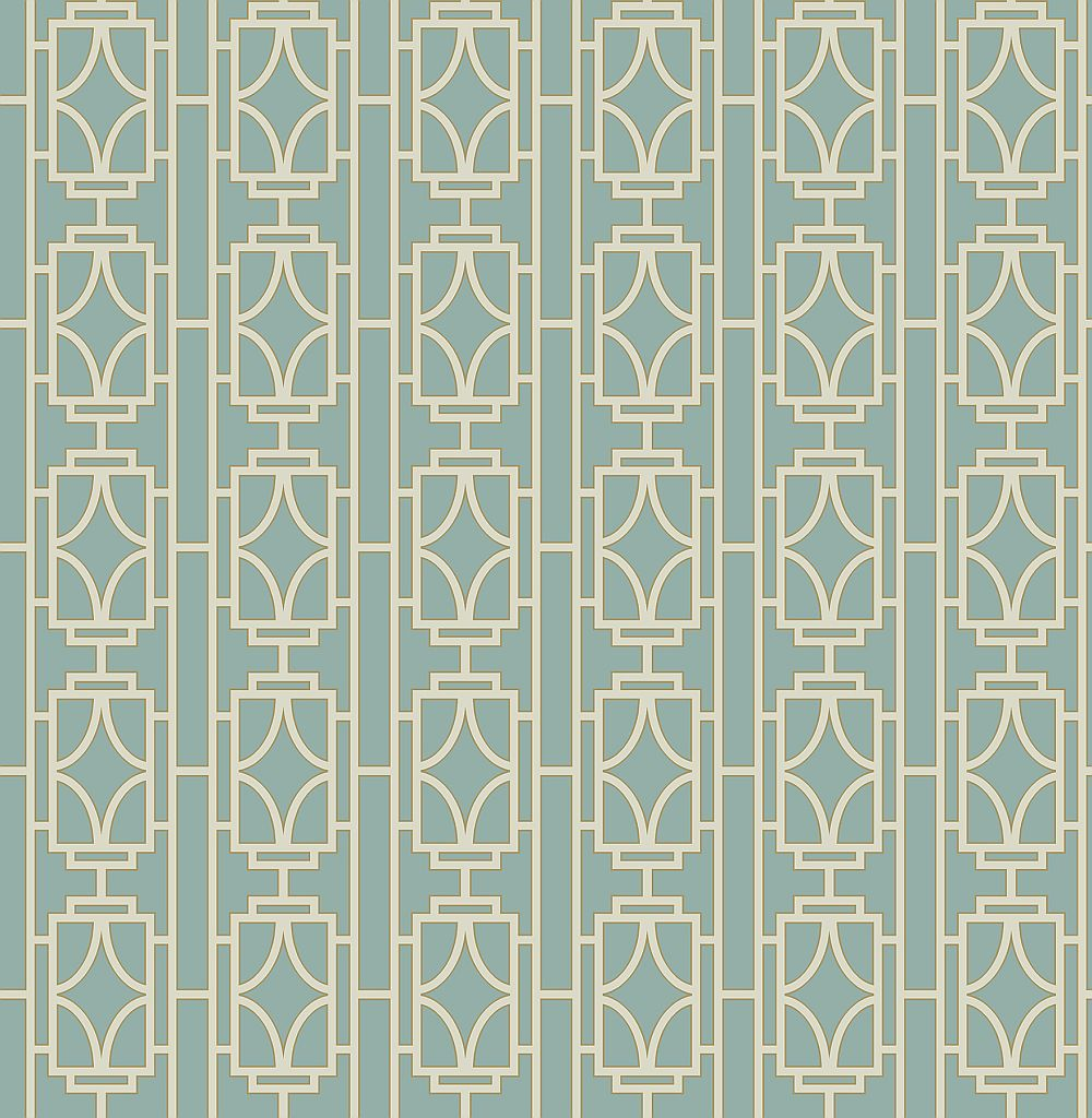 Albany Empire Lattice Turquoise Wallpaper main image