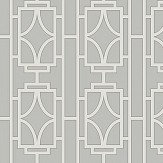 Albany Empire Lattice White / Grey Wallpaper