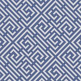 Albany Pavilion Trellis Blue Wallpaper