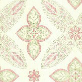 Albany Manipur Pink and Green Wallpaper
