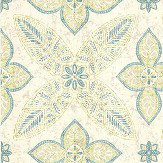 Albany Manipur Green and Aqua Wallpaper - Product code: SZ001829