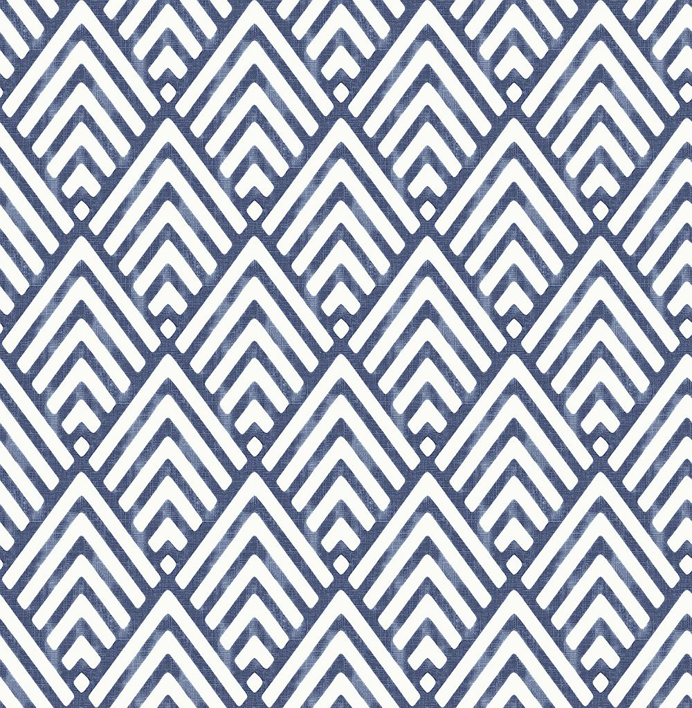 Albany Vertex Indigo Wallpaper main image