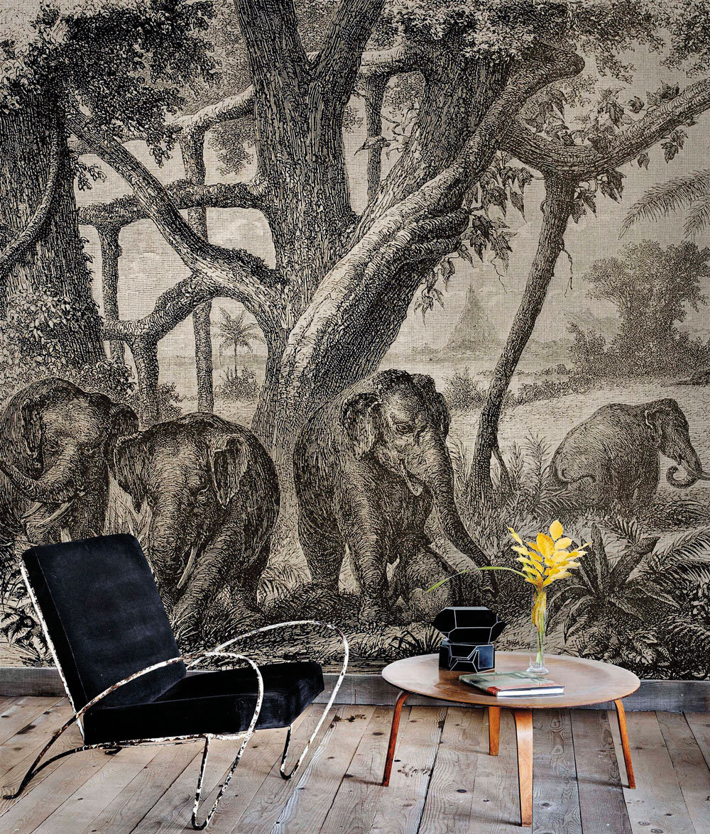 Coordonne Elephants Grey Mural - Product code: 4400093