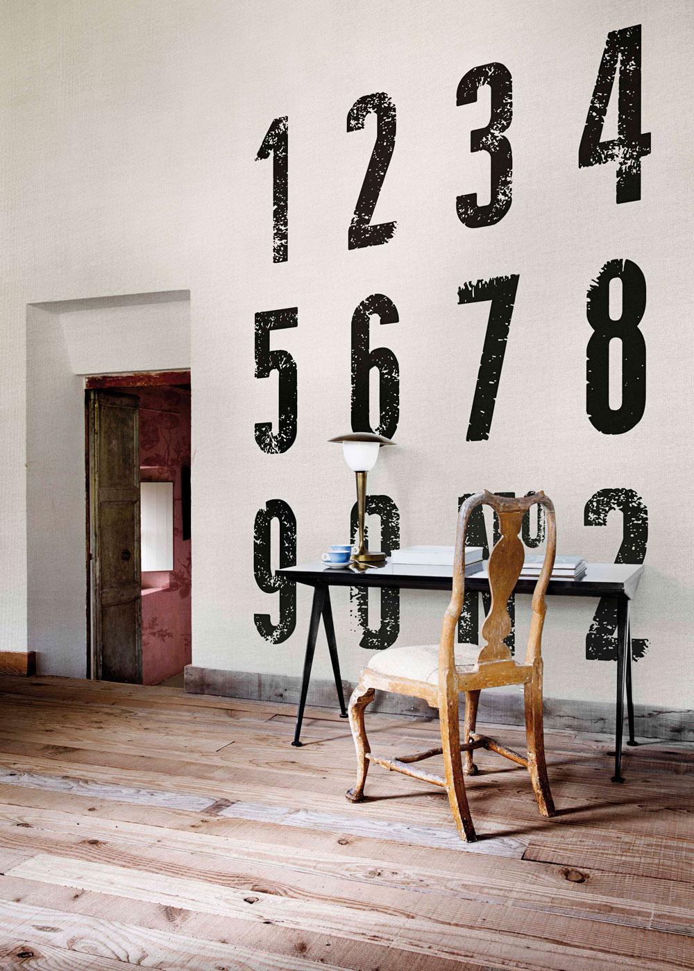 Coordonne Numbers Black Mural - Product code: 4400094