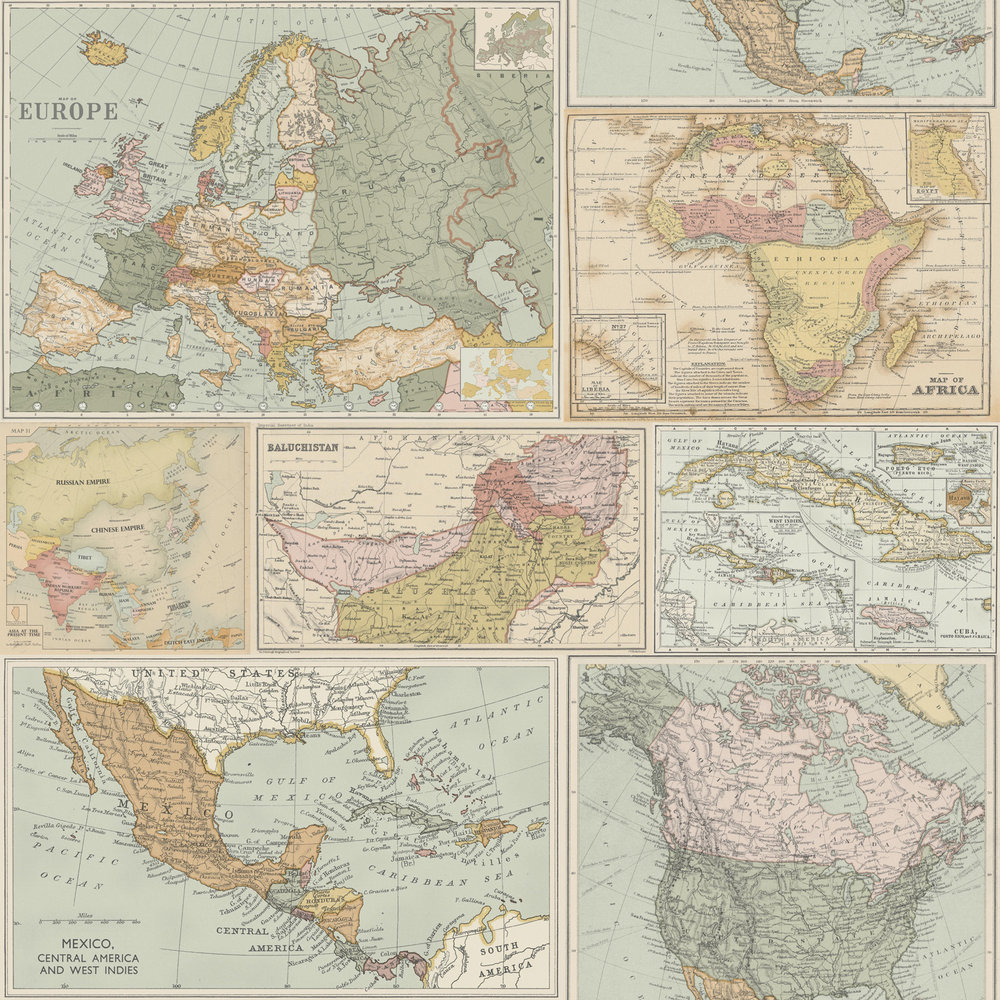 Albany Globetrotter Multi Wallpaper - Product code: 98271