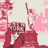Albany Liberty Raspberry Pink Wallpaper