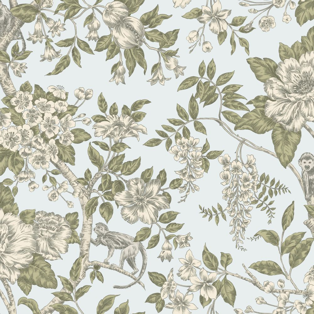 Albany Bertuccia Duck Egg Wallpaper - Product code: 98114