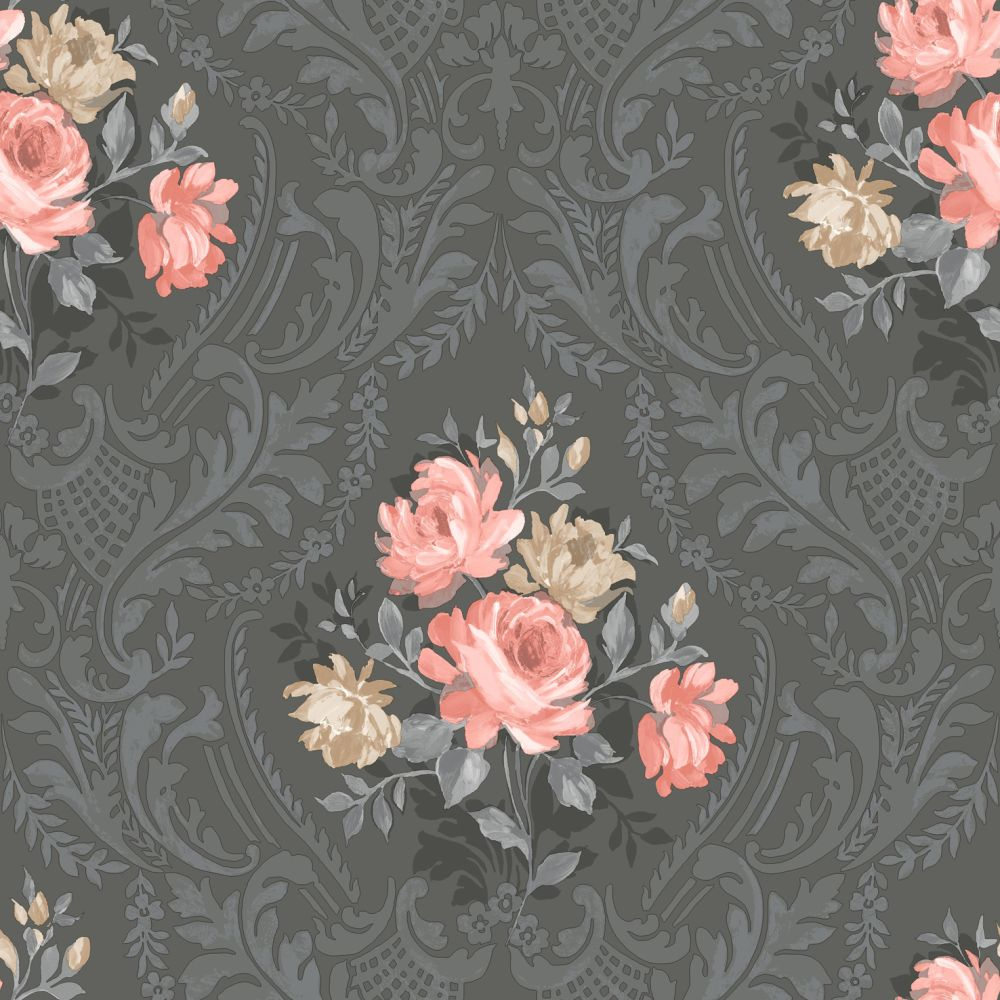 Albany Brigitte Black Wallpaper - Product code: 98150