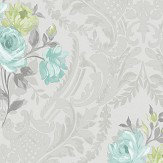 Albany Brigitte Teal Wallpaper