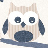 Galerie Funky Owls Denim Wallpaper
