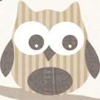 Galerie Funky Owls Beige Wallpaper