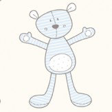 Galerie Teddies Soft Blue Wallpaper