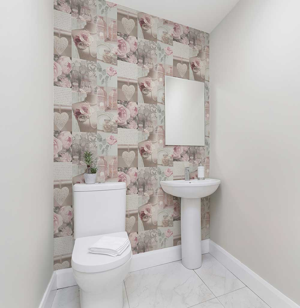 Charlotte Wallpaper - Blush - by Arthouse